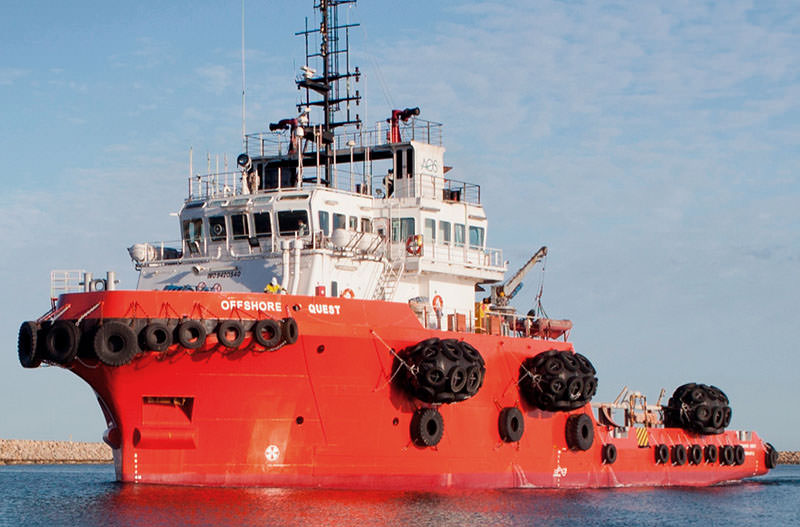 AOS OSV vessel charter Offshore quest